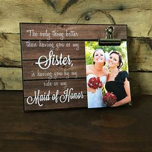 maid of honor gift wedding thank you the only thing better With wedding gift from maid of honor