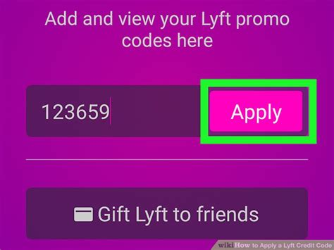 How To Apply A Lyft Credit Code