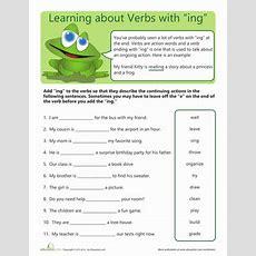 """Verbs With """"ing""""  Worksheet Educationcom"""