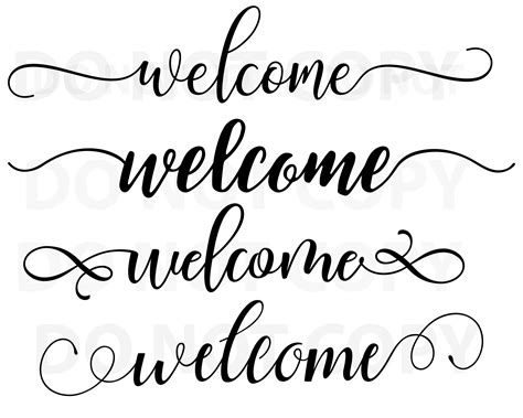 Welcome to our free svg file section. Welcome Sign SVG Bundle Quotes svg file for cricut Sayings ...