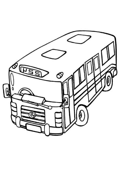 bus station coloring pages   print