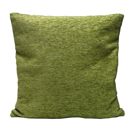 plain chenille cushion cover   green tonys textiles