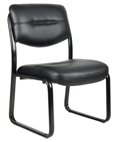 norstar b9539 black leather plus armless guest