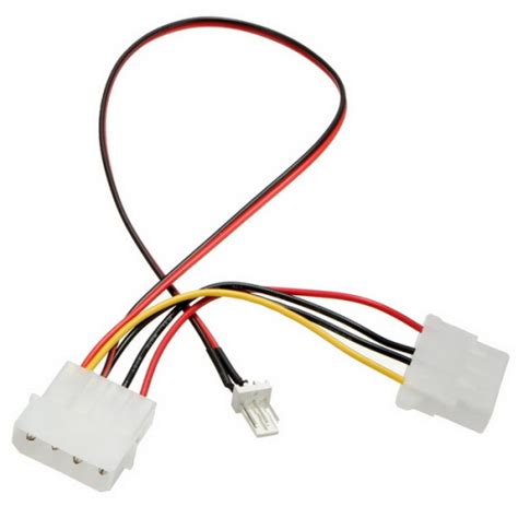 Cpu Fan 4pins Patch Cord To 3 4 Pins Power Adapter Cable
