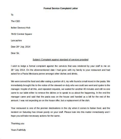 complaint letter templates