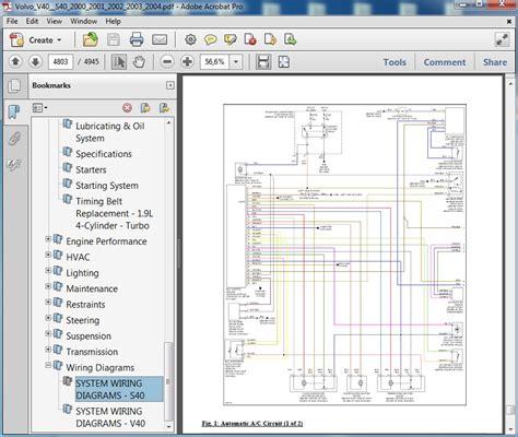 volvo v40 s40 2000 2001 2002 2003 2004 repair manual