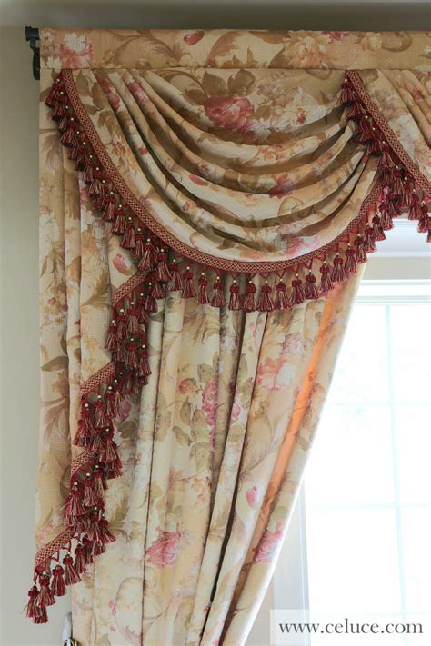 jabot curtains swags with wavy jabots swag curtains for