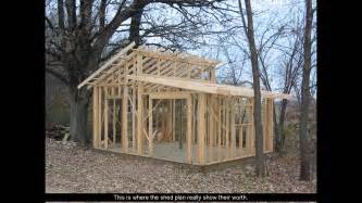 shed plans with porch youtube