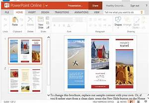 Travel brochure maker templates for powerpoint for How to make a trifold brochure in powerpoint