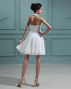 short beach halter wedding dresses for your modest and With short halter wedding dresses