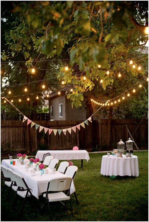 Garden Decoration For Birthday by Backyard Decoration Ideas For Adults Barbeque