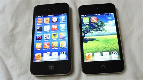 iphone 4s 4g iphone 4s vs ipod touch 4g 5g