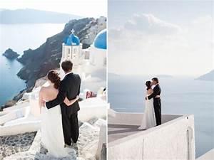 The perfect sunset destination wedding in santorini for Honeymoon packages santorini greece