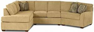 contemporary sectional sofa with left chaise by klaussner With this n that sectional sofa