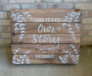 Rustic hand lettered wedding signs amy latta creations for Lettering for wedding signs