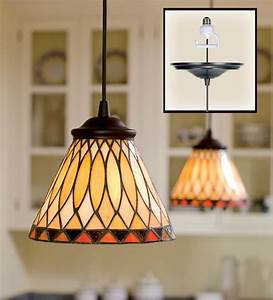 Screw in stained glass pendant light lamps lighting