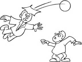 students  playing football coloring page