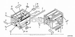 Honda Em6500sxk1 A Generator  Chn  Vin  Eapc