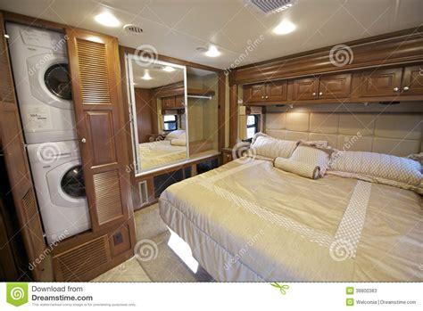 rv bedroom stock image image  mattress sleeping vehicle