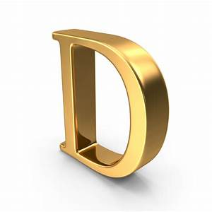 capital letter png images psds for download pixelsquid With gold letter d