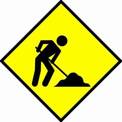 Construction Clipart Clip Sign Under Signage Advertisement