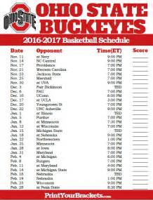 Printable Ohio State Football Schedule 2017
