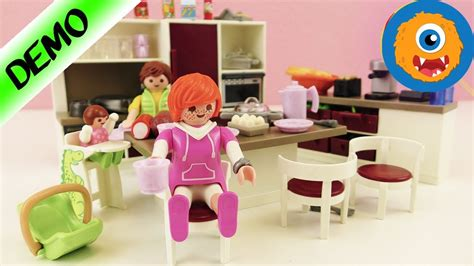 playmobil cuisine moderne playmobil big family kitchen with oven stove dish washer for the modern house