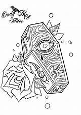 Coffin Tattoo Drawings Halloween Drawing Coloring Uploaded sketch template