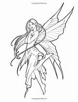 Fairy Coloring Mystical Elves Dragon Selina Fenech Fairies Wings Mythical Myth Elf Dragons Legend Fantasy Artist sketch template