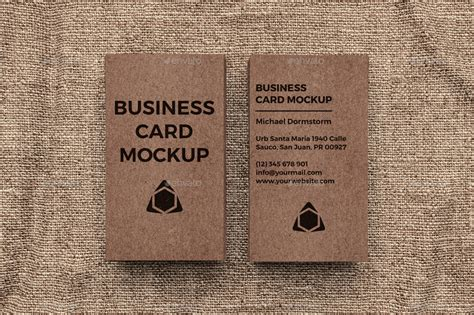 Kraft Paper Business Card Mockup By Aykutfiliz Business Card One Gold Design Color Green And Red Template Justification For Patrick Bateman Gif With Investment Avon Holder Game Visiting Gsm