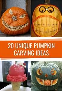 20, unique, pumpkin, carving, ideas