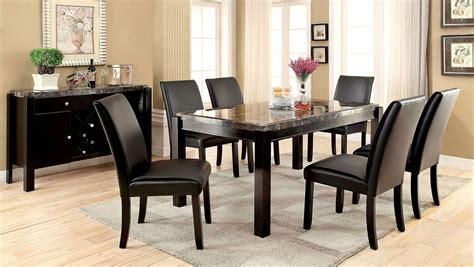 Black Dining Room Sets by Gladstone I Black Marble Top Dining Room Set Furniture Of