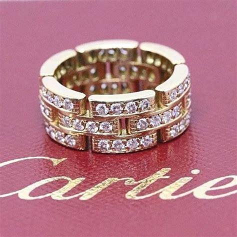 cartier maillon panthere link diamond three row karat wedding band for sale at 1stdibs