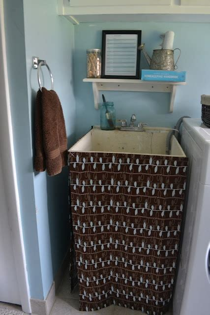 utility sink skirt pattern utility tub skirt tutorial home decorating