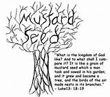 Mustard Seed Faith Coloring Tree Theology Virtue Seeking Luke sketch template