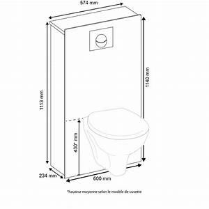 Dimension D Un Toilette Suspendu : diion cuvette wc suspendu 2017 et dimension toilette ~ Premium-room.com Idées de Décoration