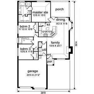 1500 square foot floor plans 1500 square 3 bedrooms 2 batrooms 2 parking space on 1 levels house plan 20248 all
