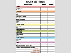 Monthly Budget Spreadsheet Budget Spreadsheet Spreadsheet