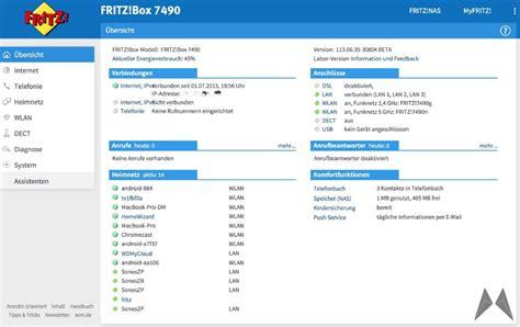 http fritz box benutzeroberfläche fritz box 7490 labor firmware bringt neue benutzeroberfläche