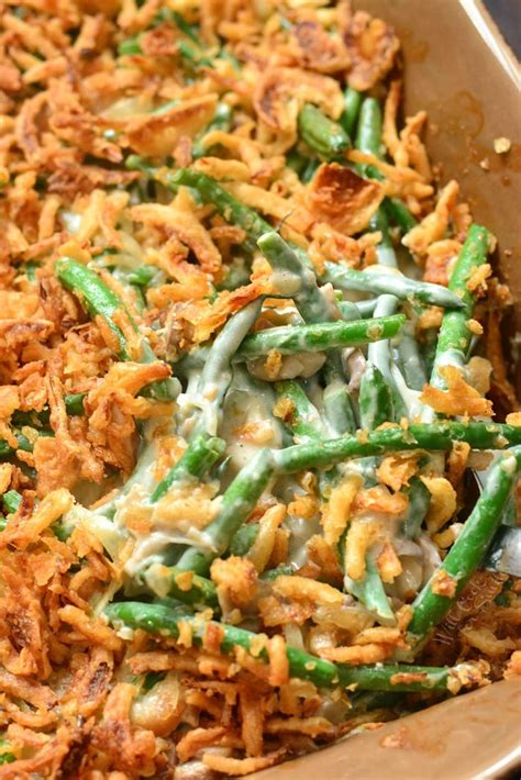 green bean casserole  cook  smiles