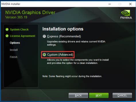 nvidia installer failed error solved