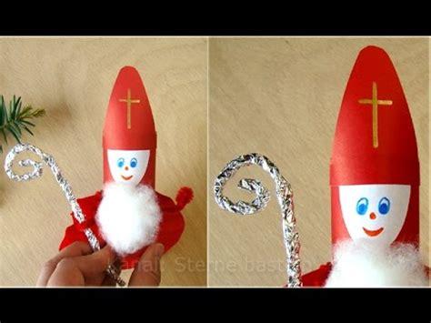basteln zu nikolaus im kindergarten nikolaus basteln weihnachtsbasteln weihnachtsmann upcycling basteln zu weihnachten