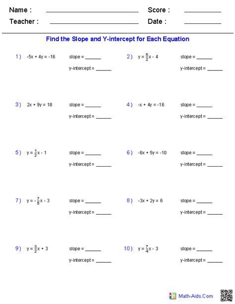 finding slope   intercept   linear equation