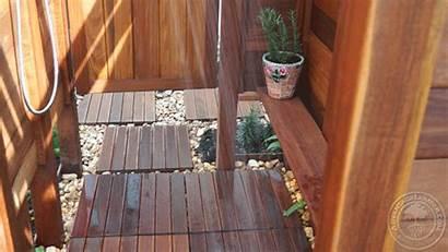 Shower Deck Ipe Siding Wood Tiles Florida