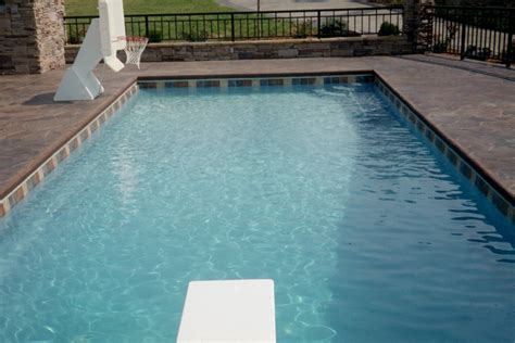 Fiberglass Pool Waterline Tile by Lakeshore Pools Inground Fiberglass Pools