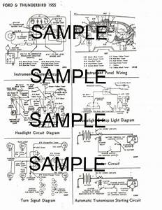 1958 Ford 58 Ford Motor Company Wiring Guide Diagram Chart 5760bk