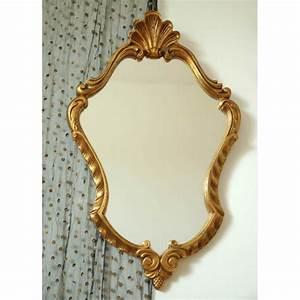 Miroir Doré Ancien : ancien miroir dore mille m2 ~ Teatrodelosmanantiales.com Idées de Décoration