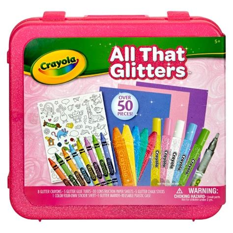 Crayola Coloring Kit by Crayola All That Glitters Coloring Kit 51pc Target