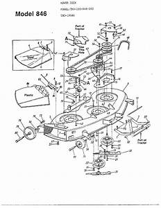 46 U0026quot  Mowing Deck Diagram  U0026 Parts List For Model 190846000