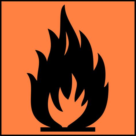 clipart vettoriali gratis clipart vettoriali di infiammabili simbolo di avviso